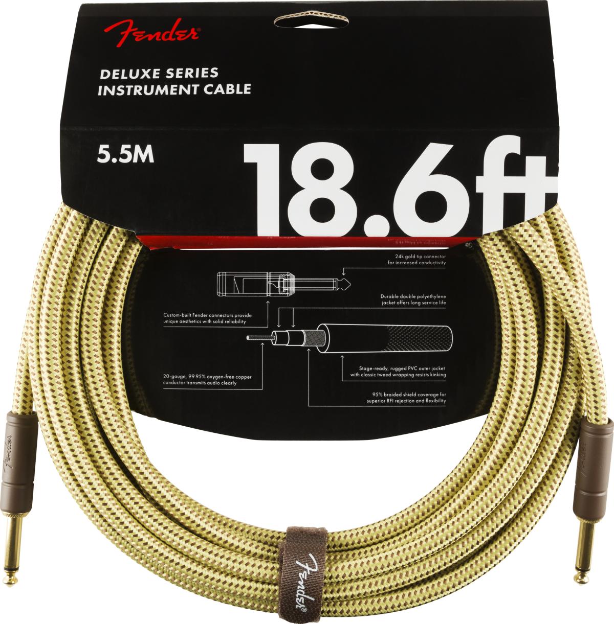 Fender Deluxe Kabel 5,5 m Tweed