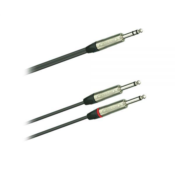 Audio Kabel 2 x 6,3 Klinke mono/2 x 6,3 Klinke Mono 5,0 m