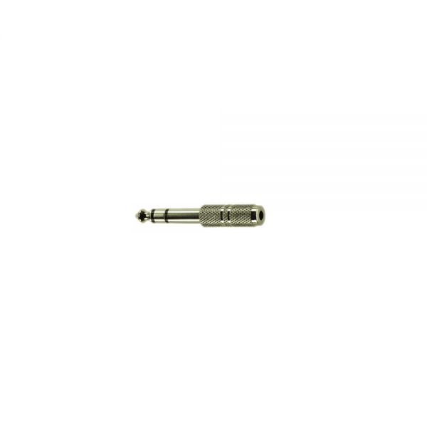 Adapter Klinkenstecker 6,3 mm Stereo   auf  Klinkenbuchse 3,5 mm Stereo Metall