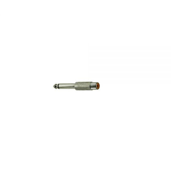 Adapter Klinkenstecker 6,3 mm Mono auf  Cinchbuchse  Metall