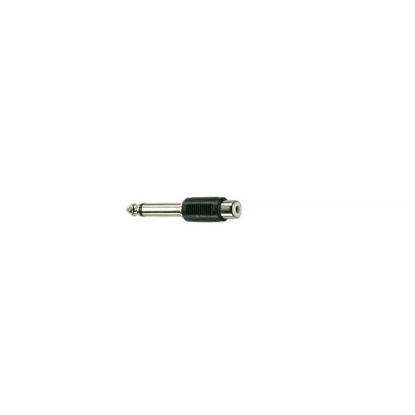 Adapter Klinkenstecker 6,3 mm Mono auf  Cinchbuchse  Kunststoff