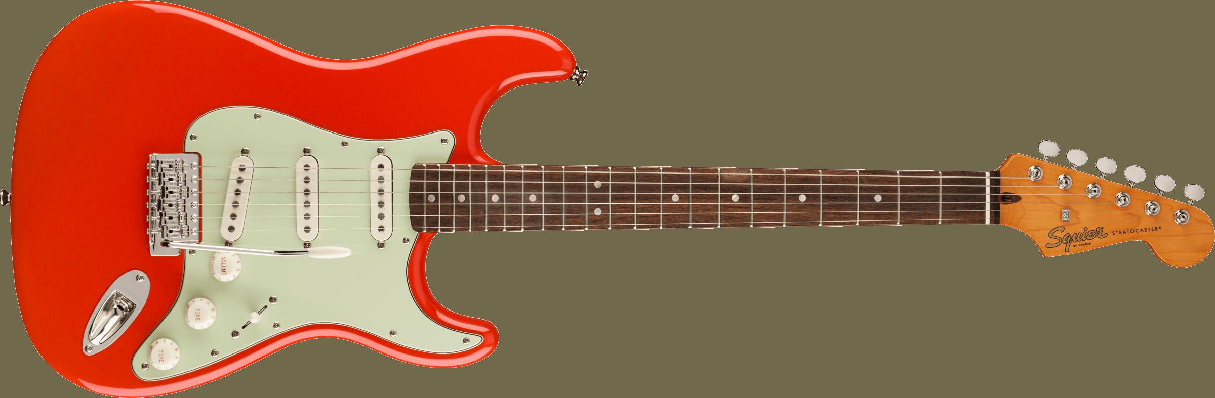 Squier Classic Vibe 60 Strat Fiesta Red Mint Pickguard