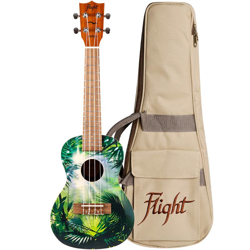 Flight AUC 33 Jungle Concert Uke w/bag