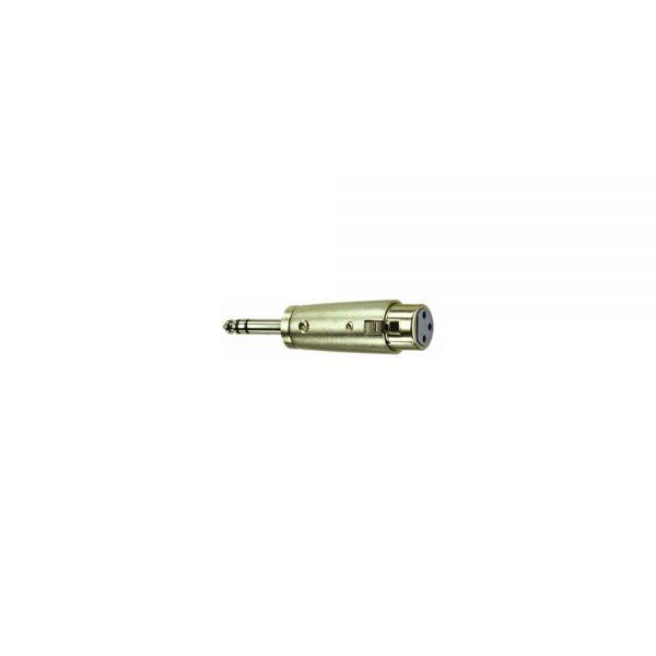 Adapter Klinkenstecker 6,3 mm Stereo   auf  XLR Buchse Female