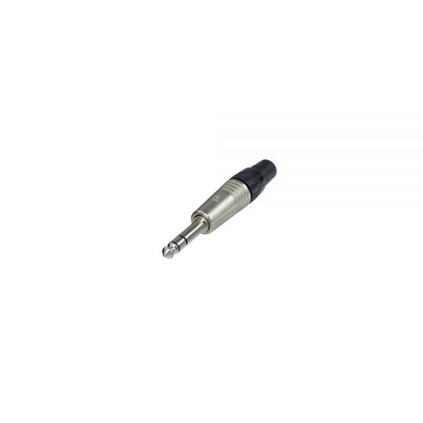 Stecker  Klinke 6,3 mm  Stereo Neutrik vernickelt