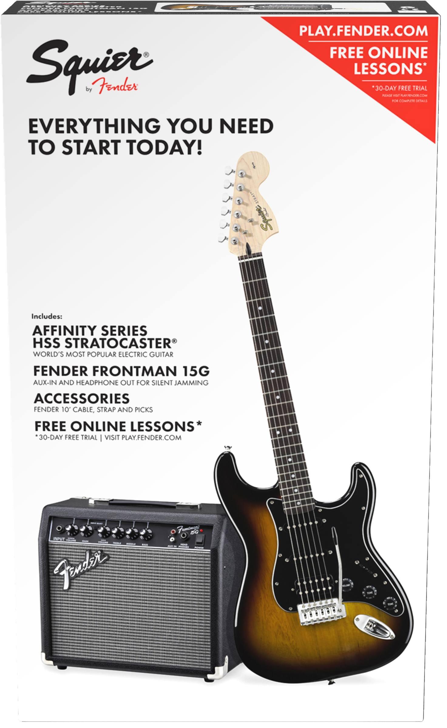 Squier Affinity Strat HSS BSB/Fender Frontman 15 G  Set