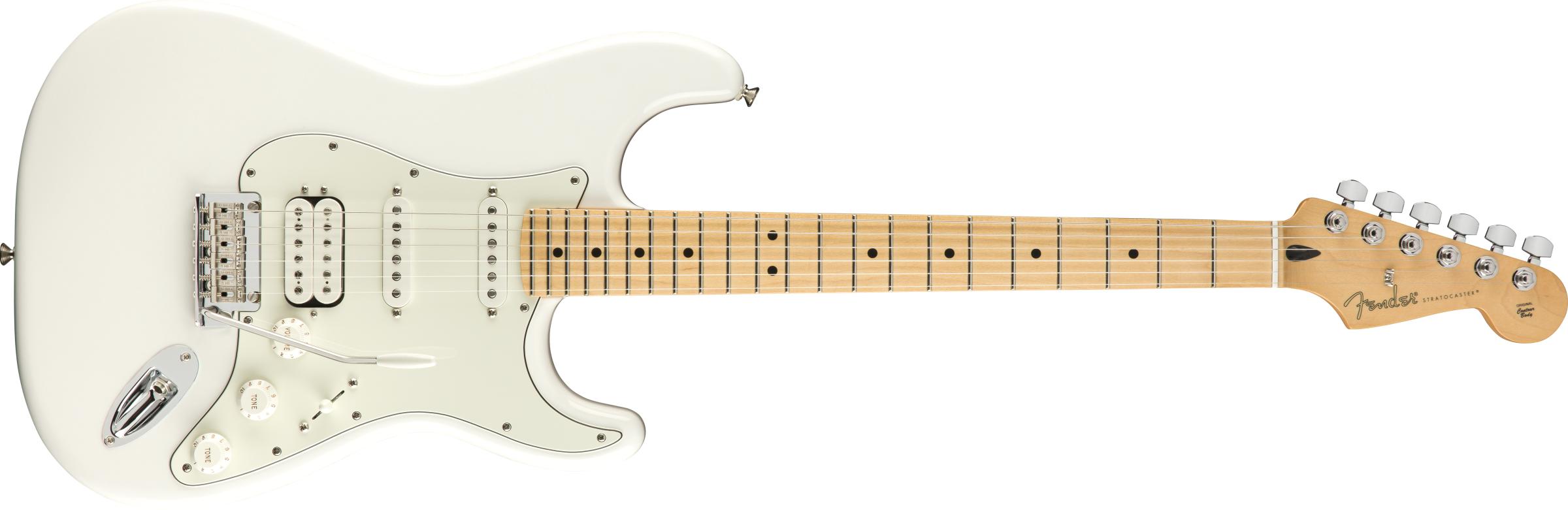 Fender Player Strat HSS Maple Polar White