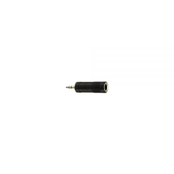 Adapter Klinkenstecker 3,5 mm Stereo auf  Klinkenbuchse 6,3 mm Stereo Kunststoff
