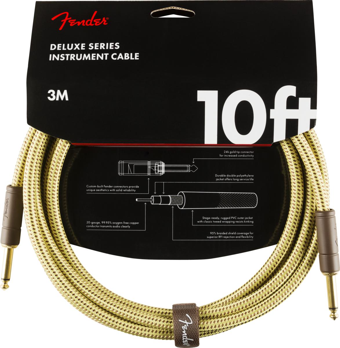 Fender Deluxe Kabel 3,0 m Tweed
