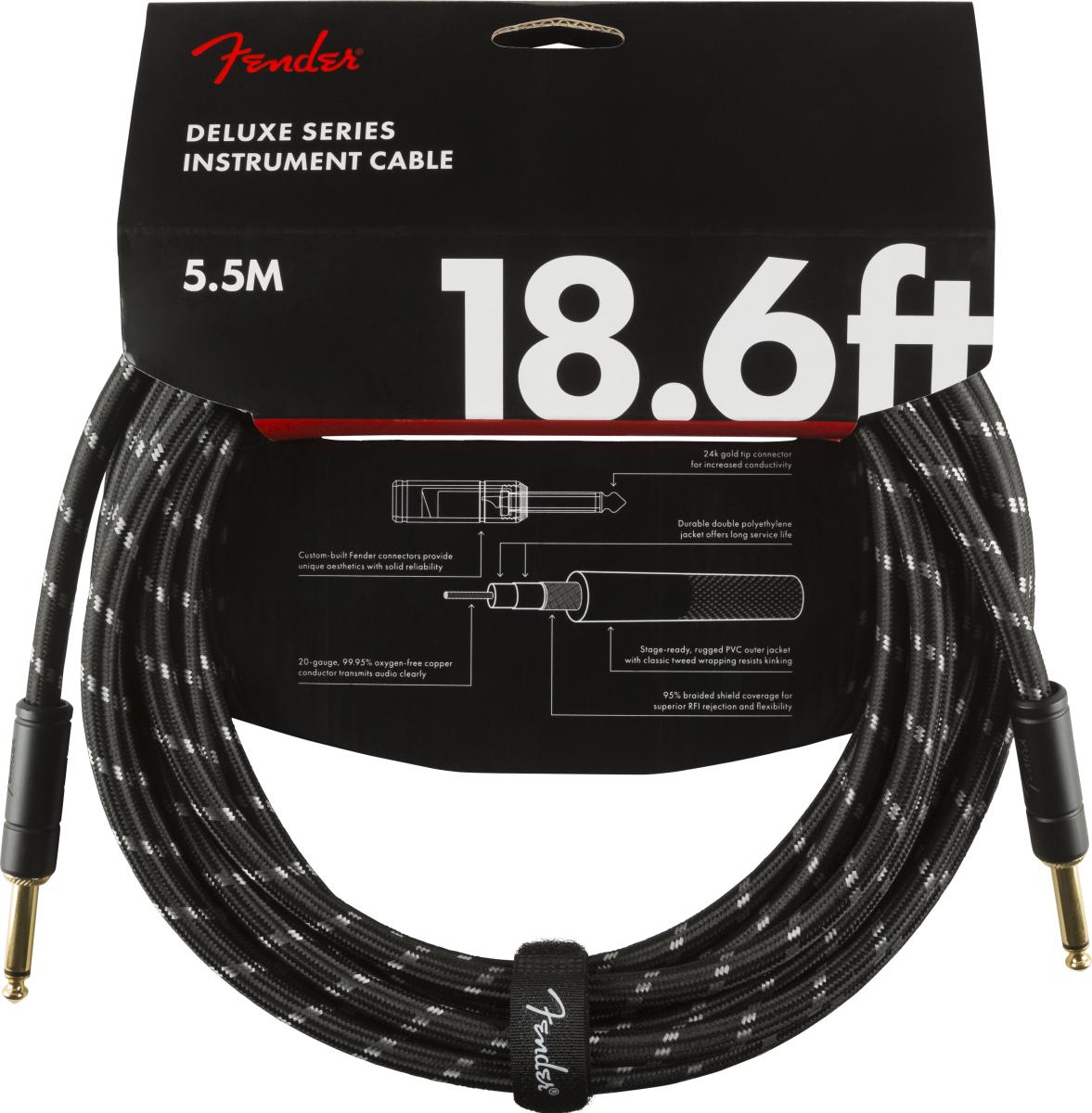 Fender Deluxe Kabel 5,5 m Black Tweed