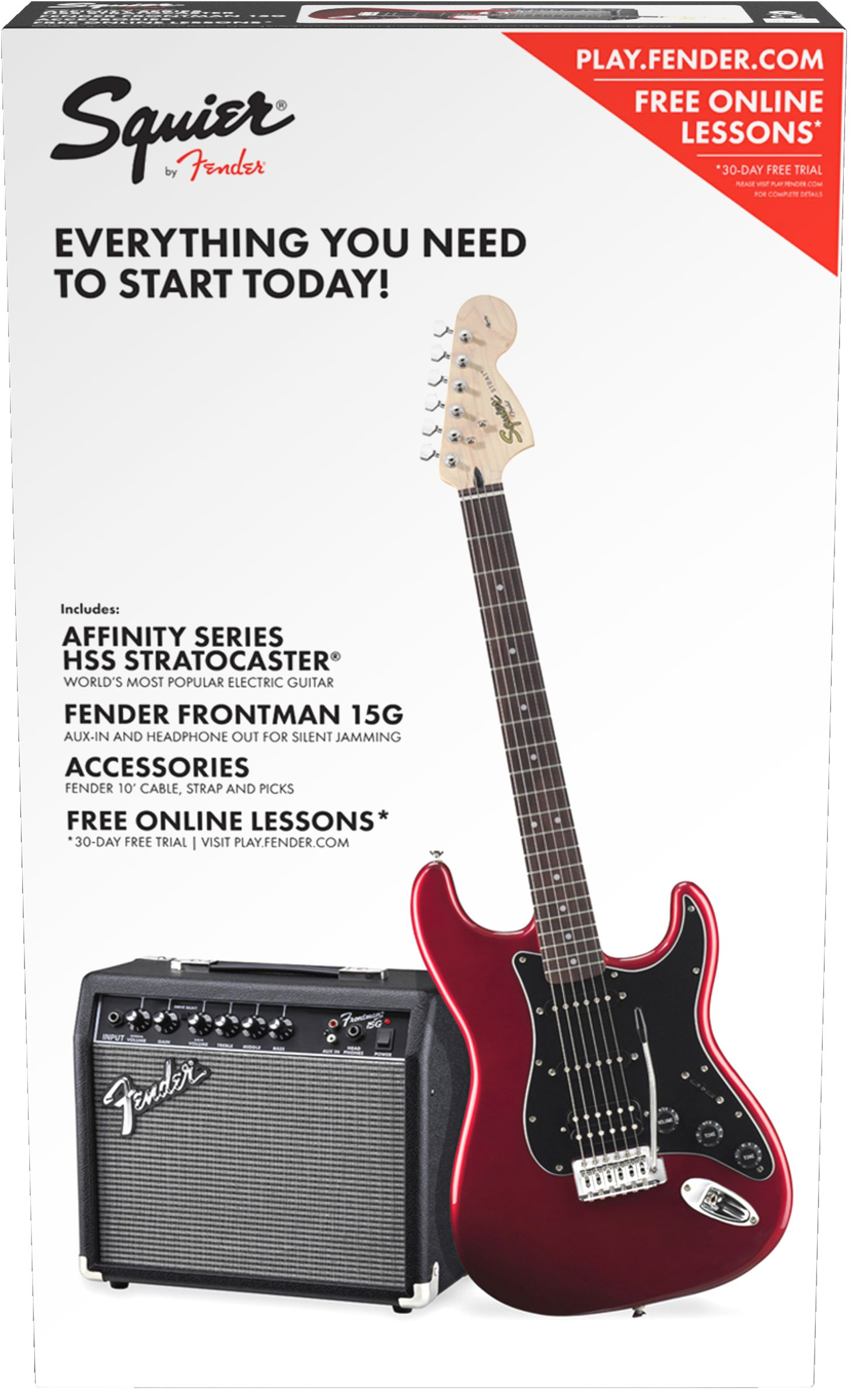 Squier Affinity Strat HSS CAR /Fender Frontman 15 G  Set