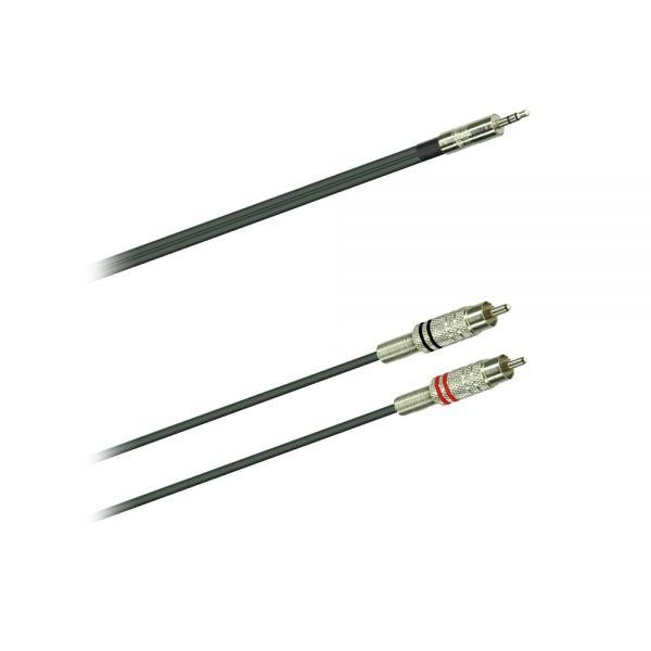 Audio Kabel  3,5 Klinke stereo/2 x Cinch  3,0 m