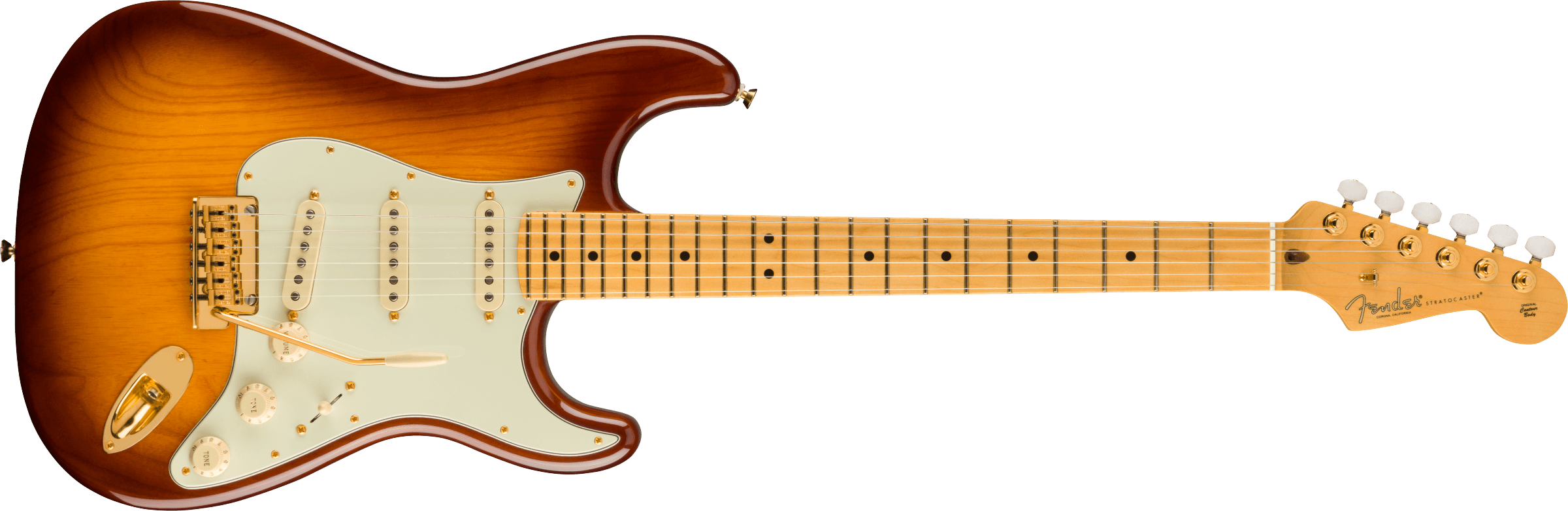 Fender 75th  Anniversary Commemorative Strat 2-Color Bourbon Burst