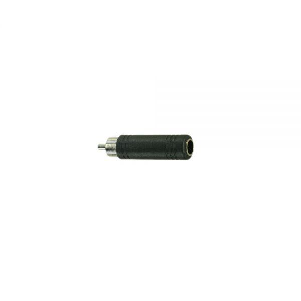 Adapter Cinchstecker   auf  Klinkenbuchse 6,3 mm Mono  Kunststoff