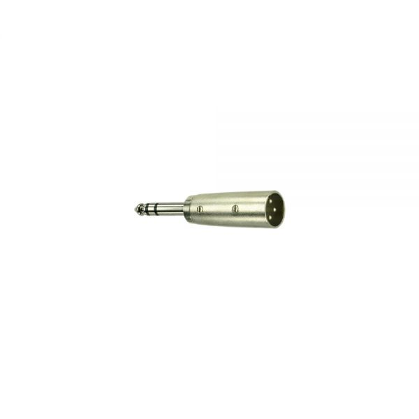 Adapter Klinkenstecker 6,3 mm Stereo   auf  XLR Buchse Male